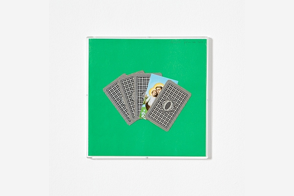 Angelo Formica, Poker, collage on forex in case, 2011