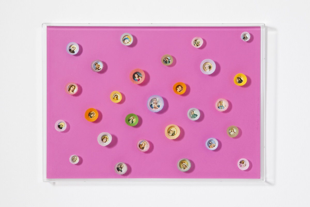 Angelo Formica, Dolce paradiso, collage on forex in case, 2011, Galleria Toselli