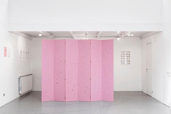 Angelo Formica, Ricreazione, costellazioni, terrasanta, exhibition view, 2017, Galleria Antonia Jannone