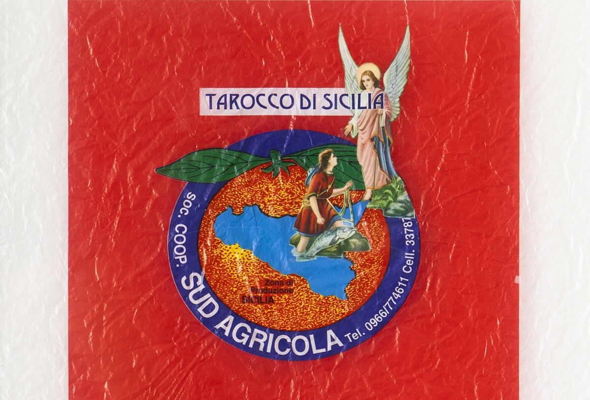 Angelo Formica, Tarocco di Sicilia, detail, collage in case, 2008, Galleria Toselli